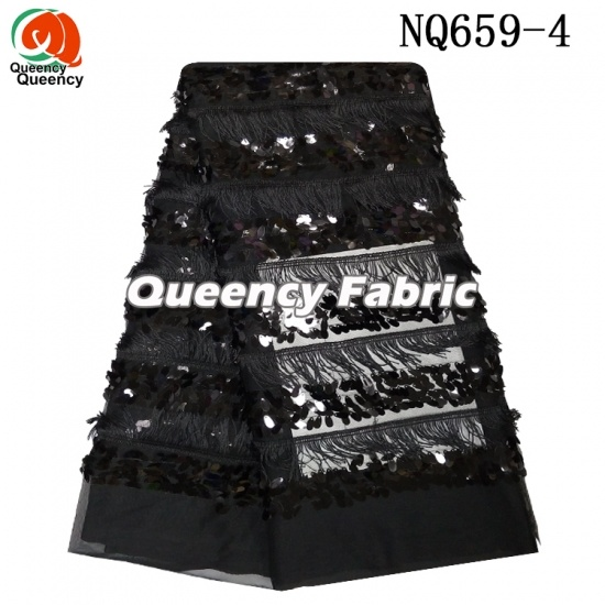 African Sequince Embroidery Tulle Net Lace