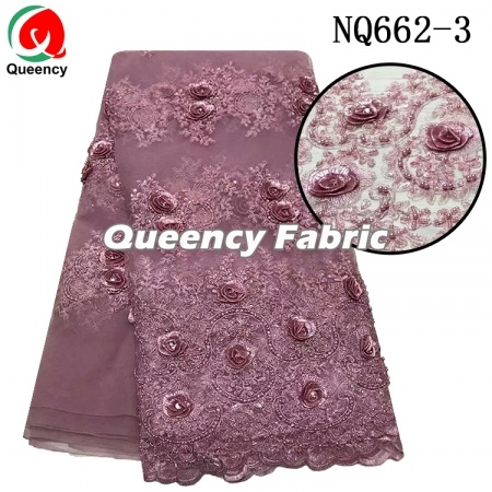 3D Beaded French Lace Fabric